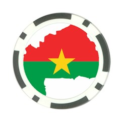 Burkina Faso Flag Map  Poker Chip Card Guard (10 Pack)