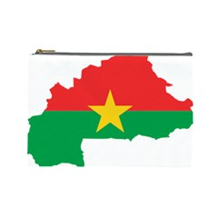 Burkina Faso Flag Map  Cosmetic Bag (large)