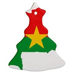 Burkina Faso Flag Map  Ornament (christmas Tree)