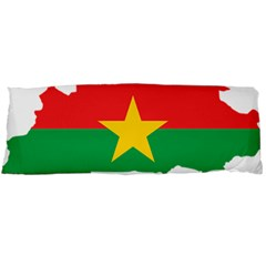 Burkina Faso Flag Map  Body Pillow Case (dakimakura)