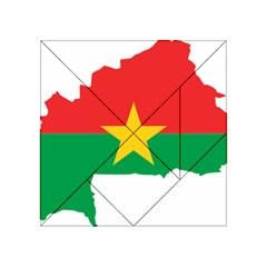 Burkina Faso Flag Map  Acrylic Tangram Puzzle (4  X 4 ) by abbeyz71