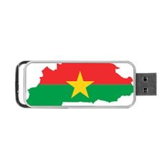 Burkina Faso Flag Map  Portable Usb Flash (one Side)