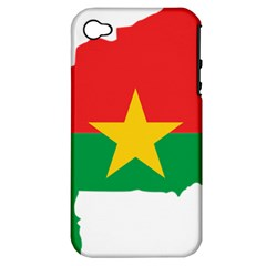 Burkina Faso Flag Map  Apple Iphone 4/4s Hardshell Case (pc+silicone)