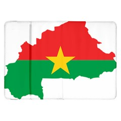 Burkina Faso Flag Map  Samsung Galaxy Tab 8 9  P7300 Flip Case