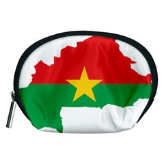 Burkina Faso Flag Map  Accessory Pouches (medium)