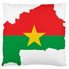 Burkina Faso Flag Map  Standard Flano Cushion Case (one Side)