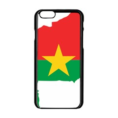 Burkina Faso Flag Map  Apple Iphone 6/6s Black Enamel Case