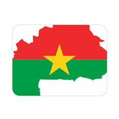 Burkina Faso Flag Map  Double Sided Flano Blanket (mini)