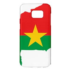 Burkina Faso Flag Map  Samsung Galaxy S7 Edge Hardshell Case by abbeyz71