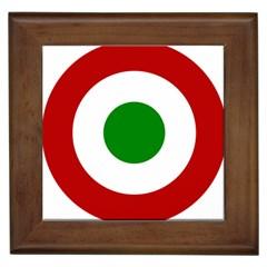 Roundel Of Burundi Air Force  Framed Tiles