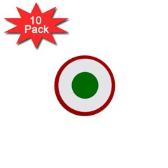 Roundel Of Burundi Air Force  1  Mini Buttons (10 Pack)