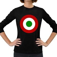 Roundel Of Burundi Air Force  Women s Long Sleeve Dark T Shirts