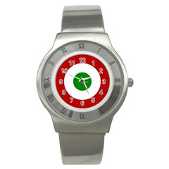 Roundel Of Burundi Air Force  Stainless Steel Watch