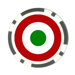 Roundel Of Burundi Air Force  Poker Chip Card Guard (10 Pack) by abbeyz71