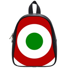 Roundel Of Burundi Air Force  School Bag (small)