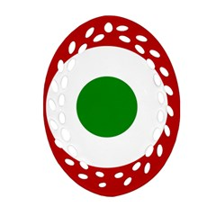 Roundel Of Burundi Air Force  Oval Filigree Ornament (two Sides)