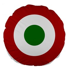 Roundel Of Burundi Air Force  Large 18  Premium Flano Round Cushions by abbeyz71