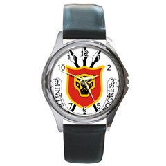 Coat Of Arms Of Burundi Round Metal Watch by abbeyz71