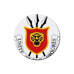 Coat Of Arms Of Burundi Rubber Coaster (round)
