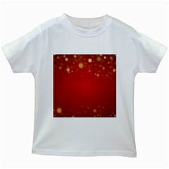 Background Abstract Christmas Kids White T Shirts