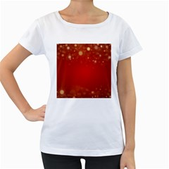 Background Abstract Christmas Women s Loose Fit T Shirt (white)