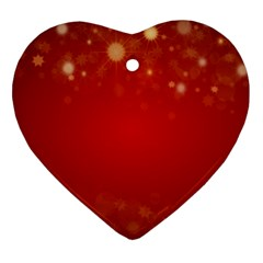 Background Abstract Christmas Heart Ornament (two Sides)