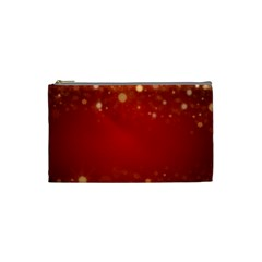Background Abstract Christmas Cosmetic Bag (small)