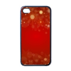 Background Abstract Christmas Apple Iphone 4 Case (black)