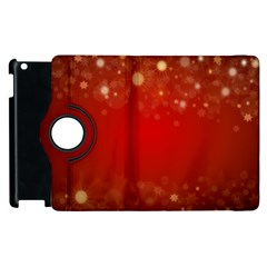 Background Abstract Christmas Apple Ipad 2 Flip 360 Case by Simbadda