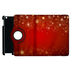 Background Abstract Christmas Apple Ipad 3/4 Flip 360 Case by Simbadda