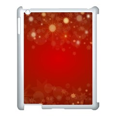 Background Abstract Christmas Apple Ipad 3/4 Case (white)