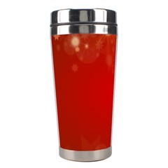 Background Abstract Christmas Stainless Steel Travel Tumblers