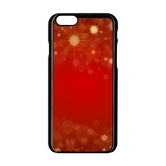 Background Abstract Christmas Apple Iphone 6/6s Black Enamel Case