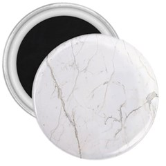 White Marble Tiles Rock Stone Statues 3  Magnets