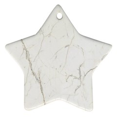 White Marble Tiles Rock Stone Statues Ornament (star)