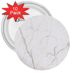 White Marble Tiles Rock Stone Statues 3  Buttons (10 Pack)