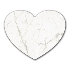 White Marble Tiles Rock Stone Statues Heart Mousepads