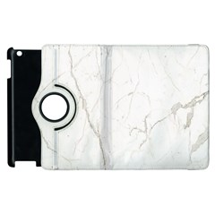 White Marble Tiles Rock Stone Statues Apple Ipad 3/4 Flip 360 Case