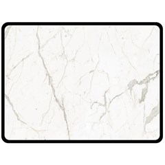 White Marble Tiles Rock Stone Statues Double Sided Fleece Blanket (large)