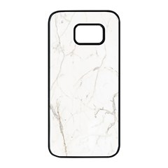 White Marble Tiles Rock Stone Statues Samsung Galaxy S7 Edge Black Seamless Case by Simbadda