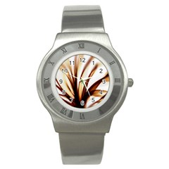 Digital Tree Fractal Digital Art Stainless Steel Watch