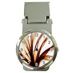 Digital Tree Fractal Digital Art Money Clip Watches by Simbadda