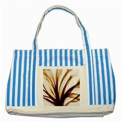Digital Tree Fractal Digital Art Striped Blue Tote Bag