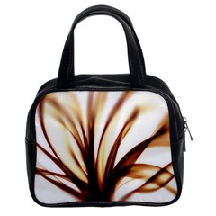 Digital Tree Fractal Digital Art Classic Handbags (2 Sides)