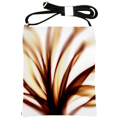 Digital Tree Fractal Digital Art Shoulder Sling Bags by Simbadda