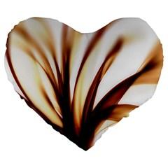 Digital Tree Fractal Digital Art Large 19  Premium Heart Shape Cushions