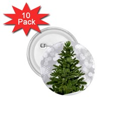 Christmas Xmas Tree Bokeh 1 75  Buttons (10 Pack)