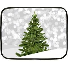 Christmas Xmas Tree Bokeh Double Sided Fleece Blanket (mini)
