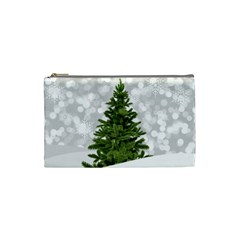Christmas Xmas Tree Bokeh Cosmetic Bag (small)