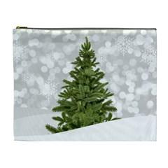 Christmas Xmas Tree Bokeh Cosmetic Bag (xl)